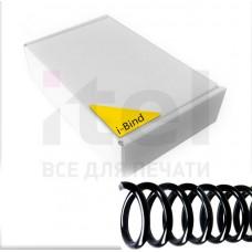 Пластиковые спирали для переплета Coil51L  (6 мм/25) черные (100 шт в пач)