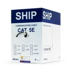 Кабель сетевой, SHIP, D106, Cat.5e, UTP, 4x2x1/0.51мм, PE, 305 м/б (Влагост. Для наружных работ)
