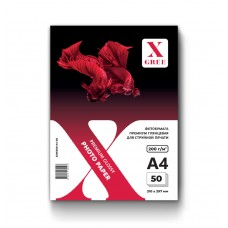 53W200-A4-50 Фотобумага для струйной печати X-GREE Глянцевая Premium A4*210x297мм/50л/200г NEW (20)