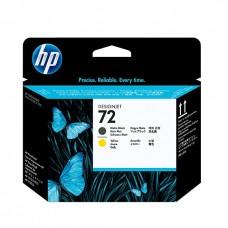 HP C9384A Matte Black and Yellow Printhead №72 for DesignJet T1100/1T2300 /610. головка 2 цв