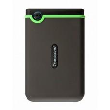 Внешний жесткий диск 2,5 1TB Transcend TS1TSJ25M3 прорезиненый корпус черный/ зеленый