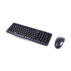 Комплект Клавиатура + Мышь, Rapoo, N1820, Оптическая мышь, 1000DPI, USB, Анг/Рус/Каз, 1,6 Метра