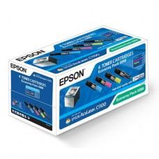 Тонер-картриджи КОМПЛЕКТ Epson Acu Lazer C1100/CX11 economy pack (оригинал)