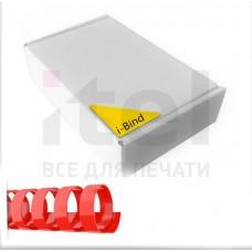 Пластиковые пружины для переплета  (8 мм/45) красные (100 шт в пач)