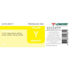 Чернила LOMOND для НР X451/476/551/576 картридж 971 (100мл.) LH10-001Y Желтый пигмент