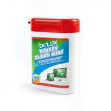 Чистящие салфетки, Delux, Screen Clean Mini 100шт/туба (красная)