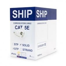 Кабель сетевой, SHIP, D135-P, Cat.5e, UTP, 4x2x1/0.51мм, PVC, 305 м/б Серый