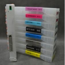 ПЗК комплект Epson Stylus Pro-7700, 7890, 7900, 9700, , наб. 9шт  без чернил сброс программатором