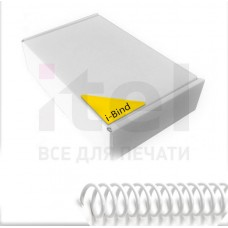 Пластиковые спирали для переплета Coil51L (12 мм/105) прозрачные (100 шт в пач)
