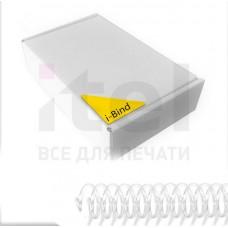 Пластиковые спирали для переплета Coil51L  (6 мм/25) белые (100 шт в пач)