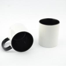 Кружка MT-B002Н для сублимации, ручка и внутренняя часть в цвете, 11oz, Черная (48)