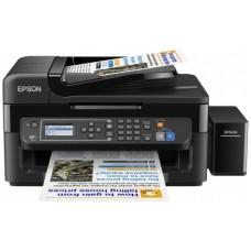 МФУ цветной,струйный фабрика печати Epson Styles L566  C11CE53403 4-х Цветное МФУ факс WI-FI