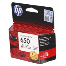 HP 650 Tri-color Ink Cartridge CZ102A