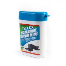 Чистящие салфетки, Delux, Notebook Clean Mini  100шт/туба (голубая)
